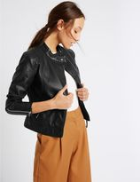 Marks and Spencer Twin Pocket Zipped Moto Jacket