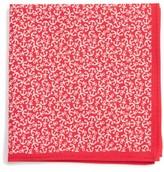 Nordstrom Boy's Anchor Print Silk Pocket Square