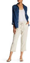 Susina Linen Blend Slouch Crop Pants