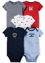 Carter's Baby Boys' 5-Pack Short-Sleeve Little All-Star Sports Bodysuits