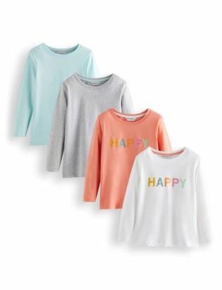 Amazon Brand - RED WAGON Girl's Graphic Long Sleeve Top