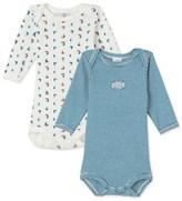 Petit Bateau Set of 2 baby boys long-sleeved bodysuits