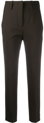 Incotex High-Rise Cropped Tailored Trousers