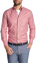 Peter Millar Port Oxford Checkered Long Sleeve Classic Fit Sport Shirt