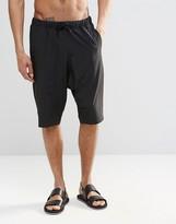 Asos Drop Crotch Swim Shorts In Black