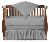 American Baby Company Heavenly Soft Minky Dot Chenille Crib Bedding Set, Gray, 4 Piece by