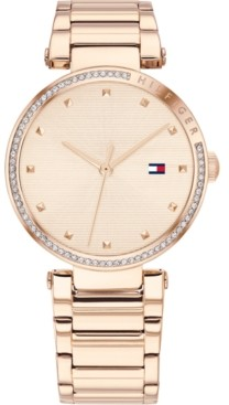 Tommy Hilfiger Women's Carnation Gold-Tone Stainless Steel Bracelet Watch 32mm, Created for Macy's