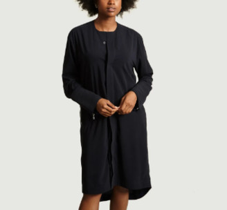 Gagan Paul - Navy Blue Cotton and Polyester Shirt Dress - navy blue | cotton and polyester | xs - Navy blue