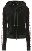 Givenchy Velvet zip-up hoodie