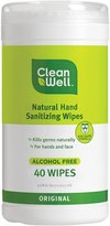 CleanWell Natural Hand Sanitizer Wipes - Original - 40 ct