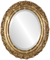 """The Oval And Round Mirror Store Venice Framed Oval Mirror in Champagne Gold, 27""""x33"""""""
