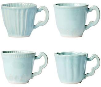 Vietri Set of Four Incanto Stone Assorted Mugs