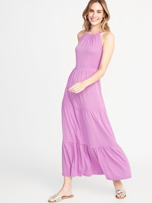 Old Navy Waist-Defined Tiered Jersey Maxi for Women