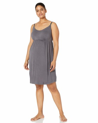 Motherhood Maternity Women's Maternity Lace Trim Nursing Nightgown