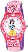 Disney Kids' W001950 Princess Analog Display Analog Quartz Pink Watch