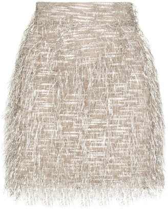 Taller Marmo Concetto fringed mini skirt