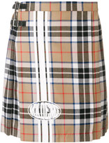 Mademe checked pleated skirt