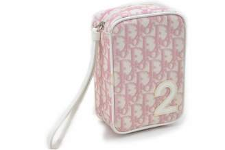 Christian Dior Pink Leather Clutch bags