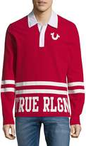 True Religion Men's Logo Polo Rugby Shirt