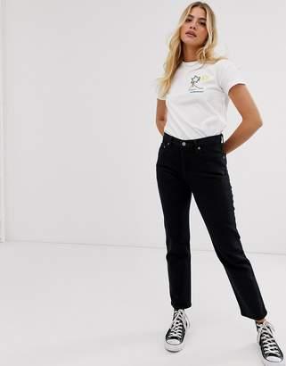 Levi's 501 crop jean in black