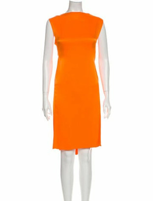 By Malene Birger Bateau Neckline Knee-Length Dress w/ Tags Orange