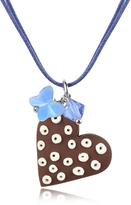 Dolci Gioie Chocolate Heart Cake Pendant w/Lace