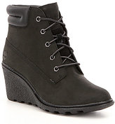 Timberland Amston Nubuck Leather Lace Up Wedge Hiker Booties
