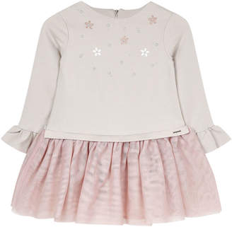 Mayoral Girl's Studded Voile Dress, Size 4-7