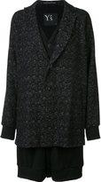 Y's layered oversized coat