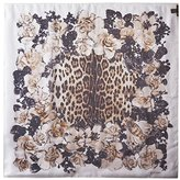 Roberto Cavalli Women's Patterned Scarf, Brown/White