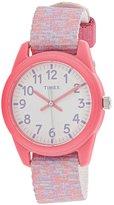 Timex Girl's Time Machines TW7C12300 Cloth Quartz Fashion Watch