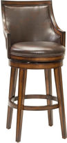 Hillsdale Lyman Upholstered Swivel Barstool with Back