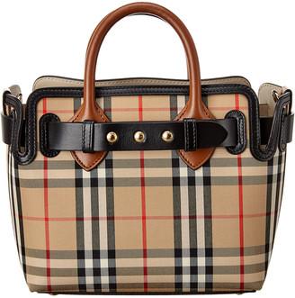 Burberry Mini Triple Stud Belt Bag Vintage Check & Leather Tote