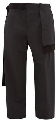 Craig Green Layered Panelled Twill Trousers - Mens - Black