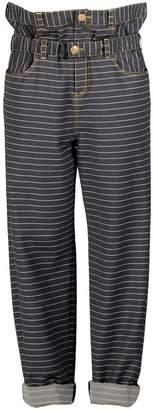 Petja Zorec Striped Double-Belt Baggy Trousers
