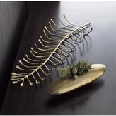 Crate & Barrel Brass Leaf Centerpiece