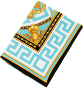 Versace Beach Towel - Turquoise/White/Gold