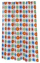 Carnation Home Fashions 100-Percent Polyester Fabric Shower Curtain, X-Long