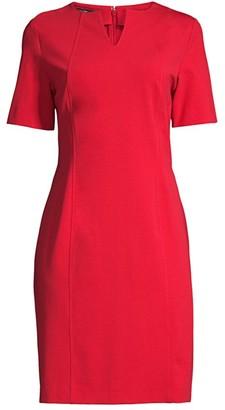 Misook Split-Neck Seam Detail Dress