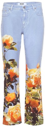 MSGM Mid-rise printed jeans