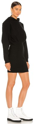 Alexander Wang T by Tailored Knit Hoodie Dress