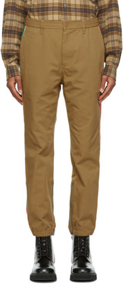 Gucci Brown Ripstop Track Trousers