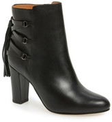 Halogen &Sadee& Lace-Up Almond Toe Bootie (Women)