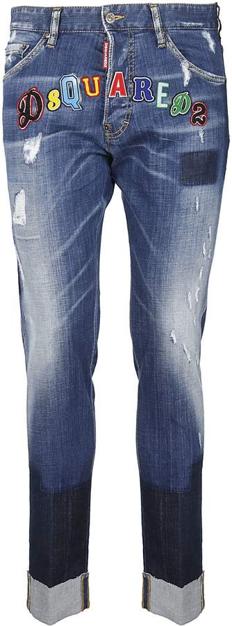 DSQUARED2 Patched Jeans