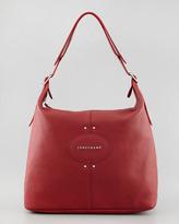 Longchamp Quadri Leather Hobo Bag, Red