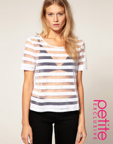 Asos Exclusive T Shirt With Neon Stripe