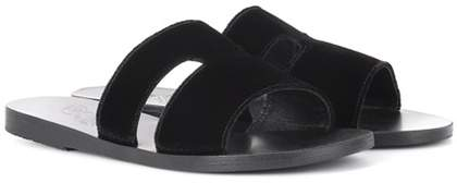 Ancient Greek Sandals Apteros velvet sandals