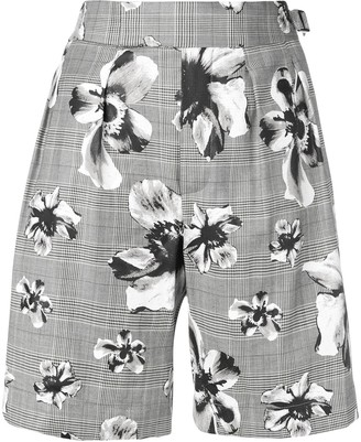 Neil Barrett prince of wales floral shorts