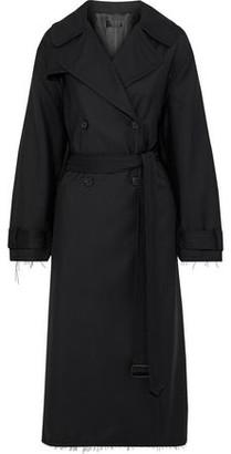Nili Lotan Matland Frayed Wool-gabardine Trench Coat