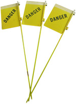 Rejuvenation Set of Three New Old Stock Reflective Danger Signs C1930s